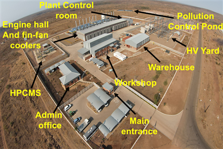 Illustration of the various components of the power station