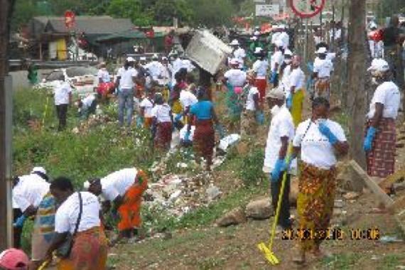 Campanha de Limpeza da vila de Ressano Garcia