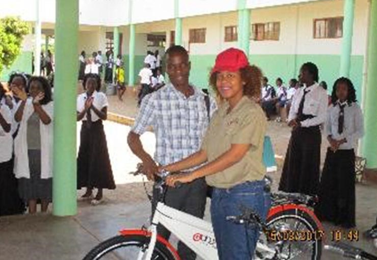 Laptops and bicycles for top students